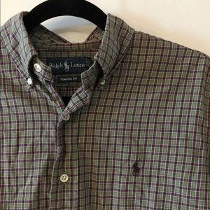 Men's Ralph Lauren Polo Button Down Flannel Shirt